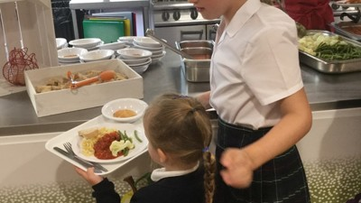 First School Dinner for Reception