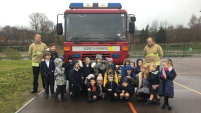 Fantastic visit from Kent Fire and Rescue!