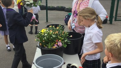 Flower sale raises £110.50