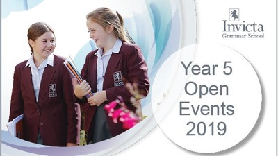 Invicta Grammar School Year 5 Open Events