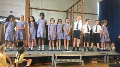 Brilliant job by school choir!